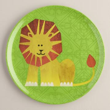 Melamine Lion Plate, Set of 4